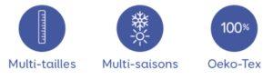 picto Les Petites Billes Multi-tailles Multi-saisons Oeko-tex